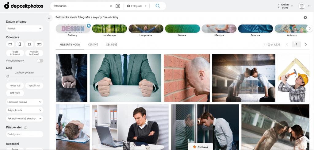 depositphotos vyhledávání obrázků